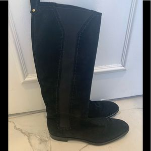 YSL black suede boots. Size 40.5